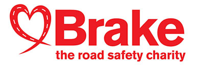 Brake road safety logo