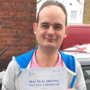 danny knight pass driving school student