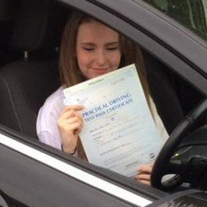 lauran dolby - pass driving school student