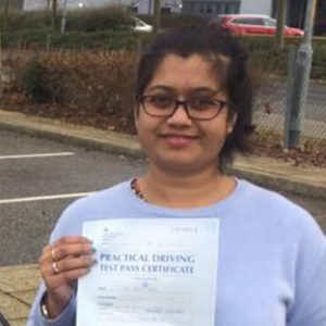 payal dibyendu sethpass driving school student